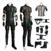 Green Arrow Season 4 Oliver Queen Halloween Cosplay Costume Ventilated U... - $164.33