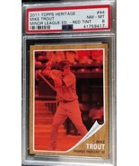 2013 Topps Heritage Minors Mike Trout Red Tint #1127/620 PSA 8 NM-MT - $324.99
