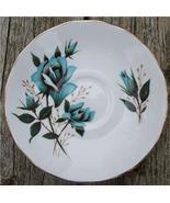 Old Royal Vale Bone China Saucer Blue Rose #RV2003 - $5.99