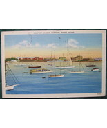 Curt Teich, White bordered, Linen Era Post Card, Newport Har - $6.00