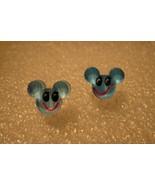 EARRINGS CHILDS MOUSE FACE COLOR: BLUE PIERCED #613D - $5.99