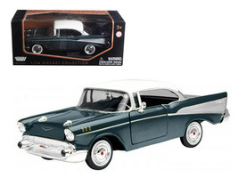 1957 Chevrolet Bel Air Green 1/24 Diecast Model Car by Motormax - $33.59