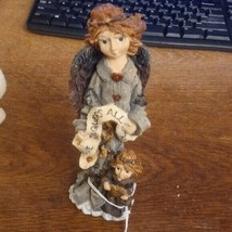 Boyds Bears Folkstone Figurine Angel of Peace 1st Edition Style with Box - $24.02