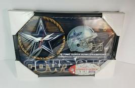 """NFL Dallas Cowboys Football Team Logo Wall Round Clock Wincraft Sports 12"""" - $34.64"""