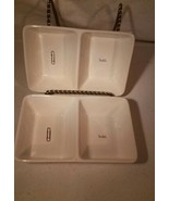 Rae Dunn Divided Trays Artisan Collection White Marked hold. Paperclip - $27.99