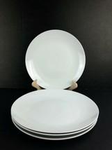 "Set of 4 Gourmet Basics Mikasa Whitehall White Round Dinner Plate 10 1/2"" - $39.59"