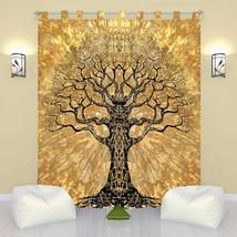 Indian Tree of Life Door Window Curtain Hanging Tapestry Hippie Drape Va... - $15.67