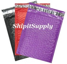 3-300 #0 6x10 ( Black Purple & Red ) Color Poly Bubble Mailers Fast Ship... - $3.49+