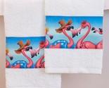 Tropical flamingo hand towels thumb155 crop
