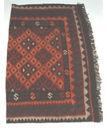 Unbranded WS202 Kilim Rug Hand Made Multi Colored Geometrical Design - $551.00
