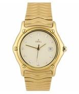Ebel Wave 18K Solid Yellow Gold 32mm Quartz Cream Diamond Watch E8087131... - $4,393.34