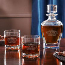 Kensington Whiskey Decanter Set with Pair of Tumblers - $69.95