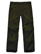 Kids Boy's Youth Outdoor Quick Dry Convertible Pants, Hiking Camping Fishing Zip - $25.19