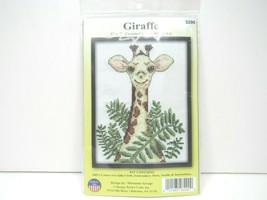 "Giraffe Design 5"" x 7"" Cross Stitch Kit Learn Craft Hobby Fun Entertainment NEW - $12.86"