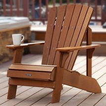 Adirondack Wood Chair Patio Lawn Deck Foldable Outdoor Relaxing Furnitur... - $177.16