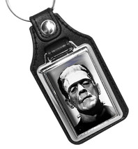 Boris Karloff as Frankenstein 1950's Horror Movies Faux Leather Key Ring - $9.85