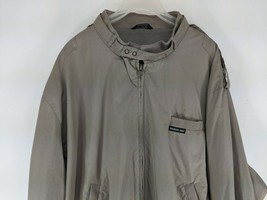 Members Only Cafe Racer Jacket Car Coat Mens Size XL Taupe (Hd) - $28.46