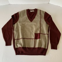 Vtg Carven Paris Monsieur Men's Jumper Sweater Wool 1960s Size Medium - $69.29