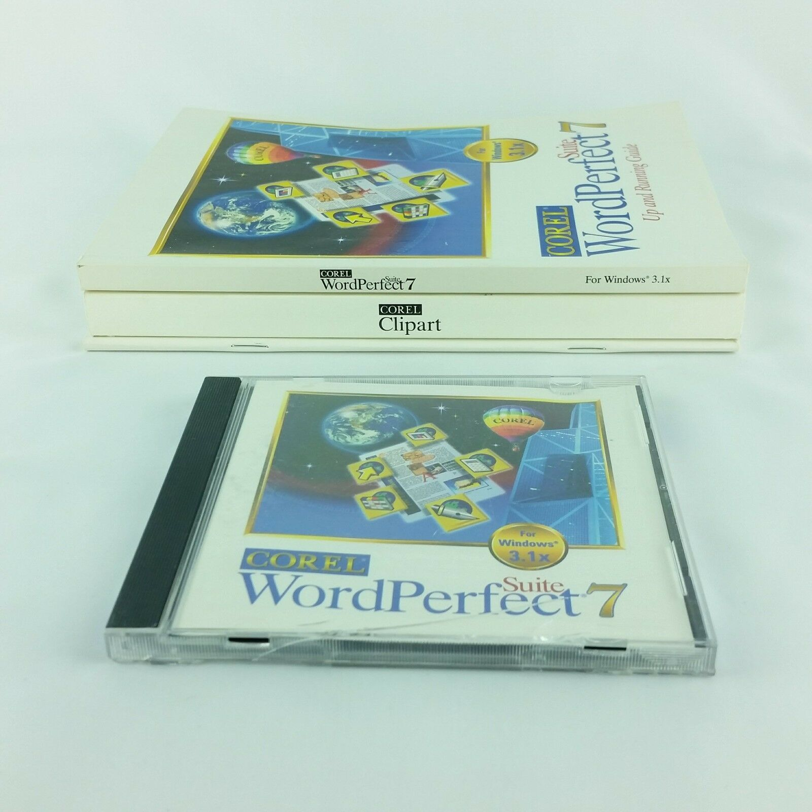 Corel WordPerfect 7 Suite Windows 3.1x  Books and CD Vintage Quattro Pro Paradox image 5