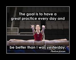 Madison Kocian, Girls Gymnastics Goal Quote Poster, Gymnast Motivation W... - $17.99+