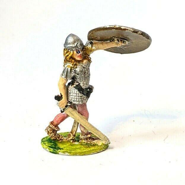 Vintage Ral Partha 10-306g Shield Maiden Metal Miniatures 1976 - $10.69