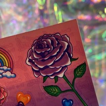EXCELLENT Condition Vintage 90s Lisa Frank Roses Rainbows Hearts S142 MINT image 2