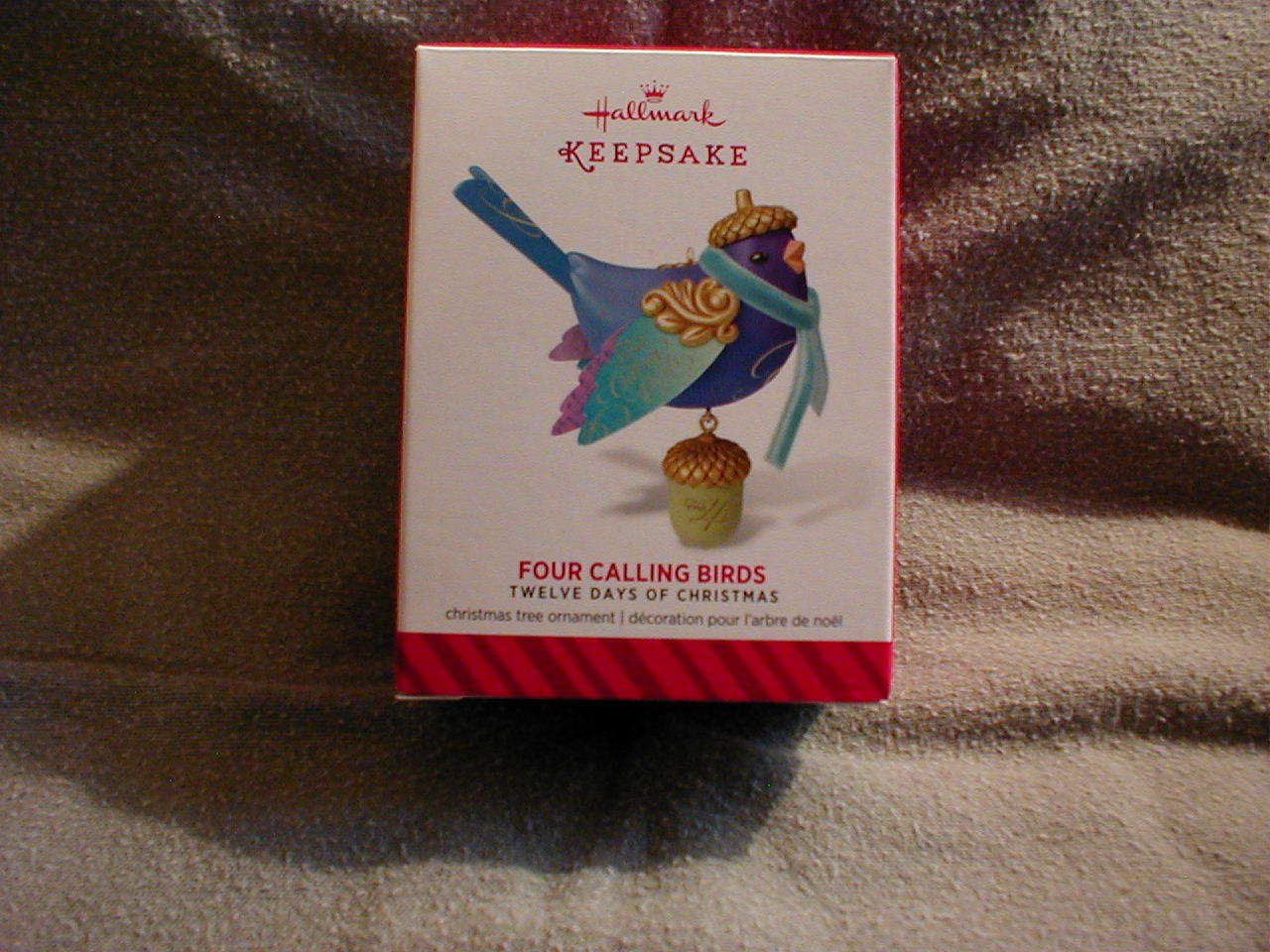 Hallmark Twelve Days of Christmas - FOUR CALLING BIRDS ! Free Priority Shipping