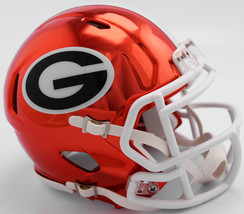 Georgia Bulldogs Helmet Riddell Replica Mini Speed Style Chrome Alternate**Free  - $29.99