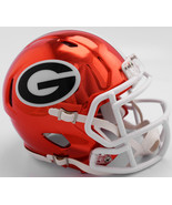 Georgia Bulldogs Helmet Riddell Replica Mini Speed Style Chrome Alternat... - $29.99