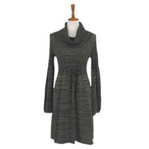 Women's Tan Ellen Tracy Long Sleeve Knit Sweater Dress, sz M - $46.44