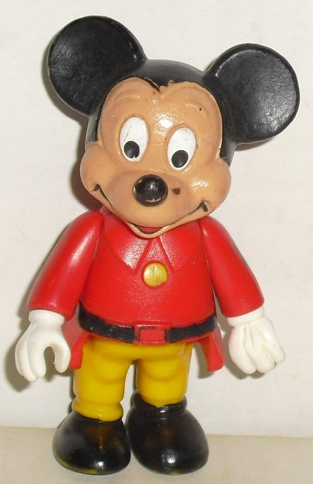 Vtg MICKEY MOUSE PVC Figure 1984 Disney BULLY W Germany