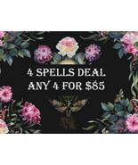 DISCOUNTS TO $85 4 SPELL DEAL PICK ANY 4 FOR $85 DEAL BEST OFFERS MAGICK  - $170.00