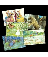 5 Pretty Cards w/ Hans Christian Andersen's Fairytales - $11.25
