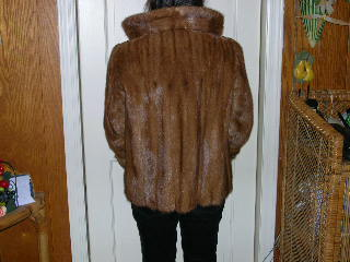 Bakc of mink coat