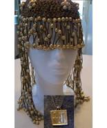 lot necklace Beaded Headpiece EGYPTIAN CleopatraFlapper FRINGE HANDMADE ... - $27.99