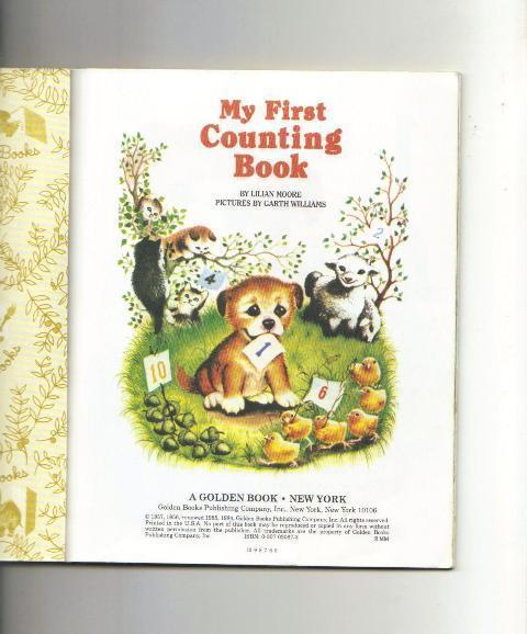 My First Counting Book, A Little Golden Book, 1984, Lilian M