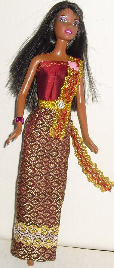 BARBIE Doll AA Black doll dressed evening gown