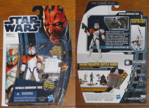 * Star Wars The Clone Wars CW11 Republic Commando Boss MOC