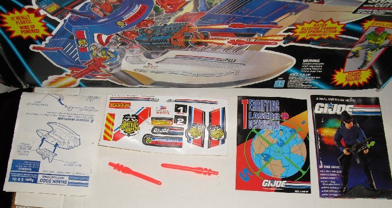 1993 GI JOE Battle Corps SHARK 9000 BOX ONLY plus