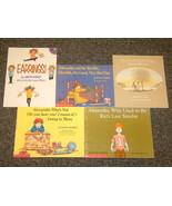 5 by Judith Viorst 3 Alexander books, Earrings, Barney - $6.99