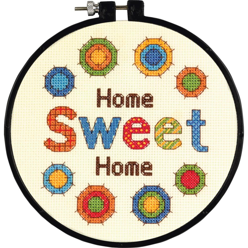 Sweet home learn a craft beginner counted cross stitch kit for Home sweet home designs