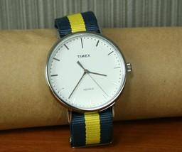 TIMEX Quartz Weekender Wrist watch CR2018 CELL 25 WR30 Used Japan - $127.40