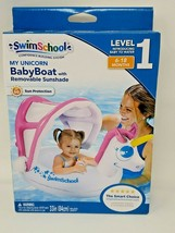 SWIMSCHOOL My Unicorn Baby Boat With Removable Sunshade 6-18 MONTHS  - $10.26