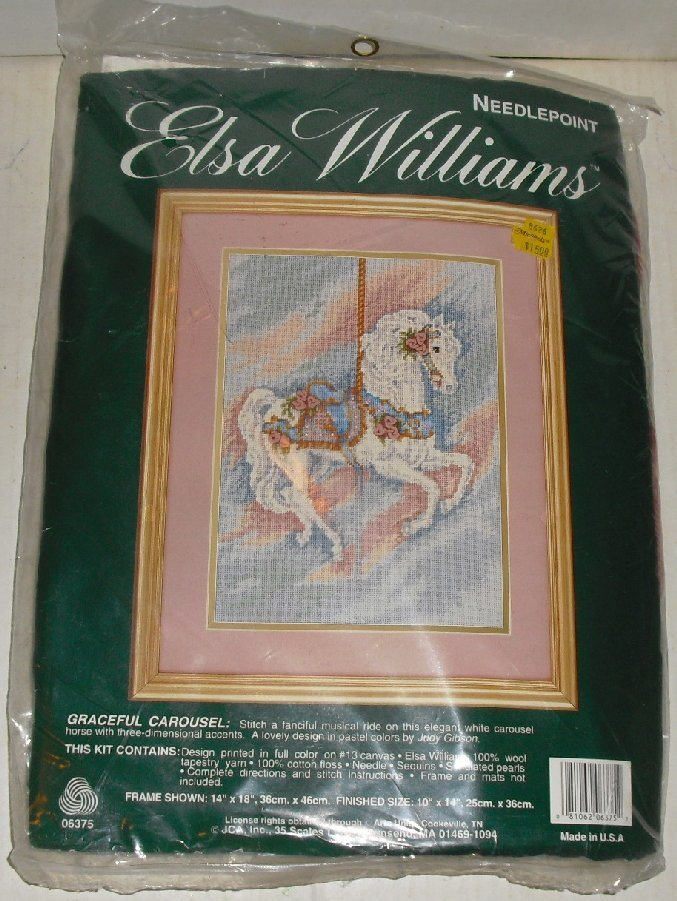 ELSA WILLIAMS Needlepoint GRACEFUL CAROUSEL Kit MIP