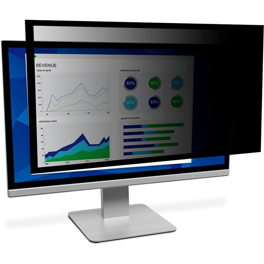 3M™ Framed Privacy Filter for 23.0 Widescreen Monitor - For 23 Widescreen