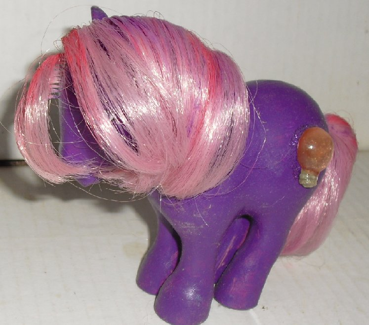 G1 My Little Pony MLP OOAK CUSTOM purple lightbulb symb