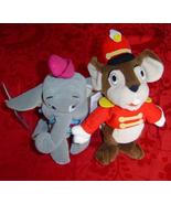 "Disney Mini Bean Bag 8"" Timothy mouse & Dumbo elephant plush - $10.00"