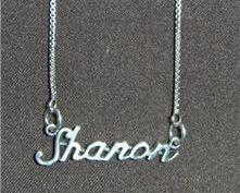 Sterling Silver Name Necklace - Name Plate - SHARON