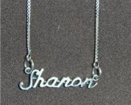 Sterling Silver Name Necklace - Name Plate - SHARON - $54.00