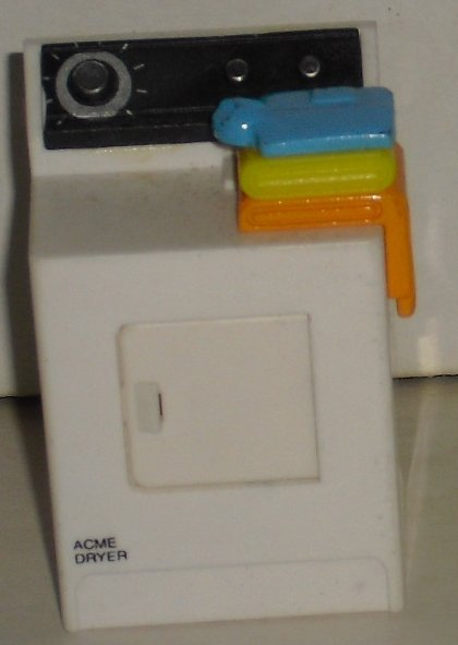 "REFRIGERATOR MAGNET white DRYER 2"" or 4 dollhouse"